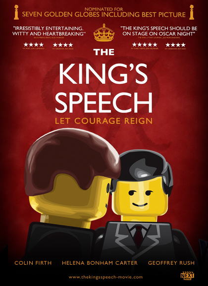 Kings Speech Lego Oscars