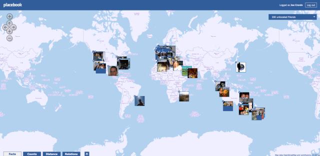 Placebook, Facebook, Maps